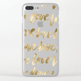 Gold Love Clear iPhone Case