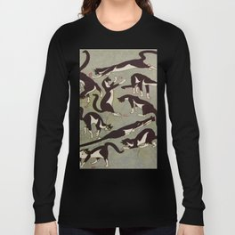 Edited magazine cover - The Lone hand - 1909 Cat Playing With Mouse Vintage Pattern Long Sleeve T-shirt