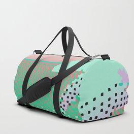 Vaporwave Sunset Pixel Art Duffle Bag