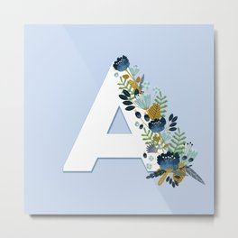 Floral alphabet Metal Print
