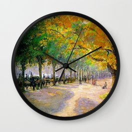 Hyde Park London 1890 By Camille Pissarro   Reproduction   Impressionism Painter Wall Clock