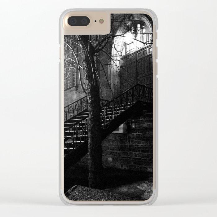 Dark Stairway Clear iPhone Case