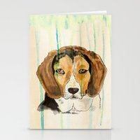 beagle Stationery Cards featuring Beagle by Tammy Kushnir