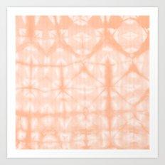 Tie Dye 2 Peach Art Print