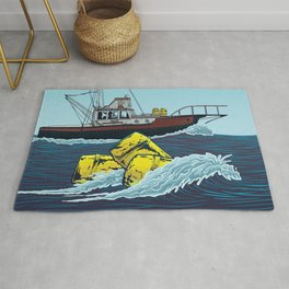 Jaws: Orca Illustration Rug