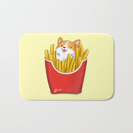 French Corgi Fries Bath Mat