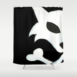 Crest of the Wolf Pirates Shower Curtain