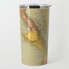 Vintage Map of Baja California (1886) Travel Mug