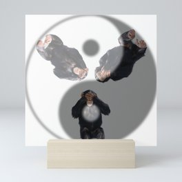 Yin Yang Monkeys Mini Art Print