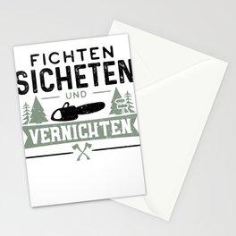 Fichten Sichten Und Vernichten Stationery Cards