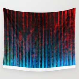 Syntax (Red + Blue) Wall Tapestry