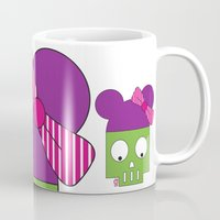 minnie Mugs featuring MINNIE SKULL by Riot Clothing