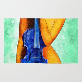 Bellaseussa - beauty with violin Rug