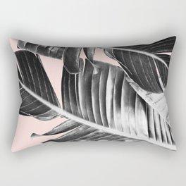Tropical Blush Banana Leaves Dream #7 #decor #art #society6 Rectangular Pillow
