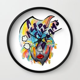 A head full of dreams Wall Clock