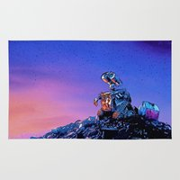 wall e Area & Throw Rugs featuring WALL-E (Painting Style) by ElvisTR