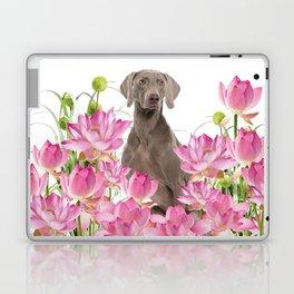 Weimaraner Lotos Flowers Laptop & iPad Skin