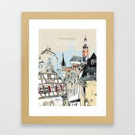 Bad Kreuznach historical 1 Framed Art Print