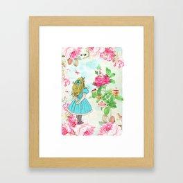 Alice in Wonderland tea party Framed Art Print