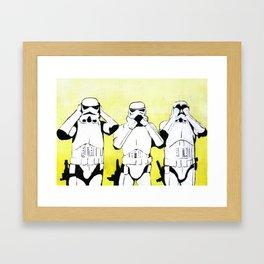 Hear No Empire, Speak No Empire, See No Empire Framed Art Print