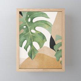 Abstract Art Tropical Leaves 3 Framed Mini Art Print