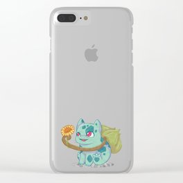 #001 Bulba Gift Clear iPhone Case