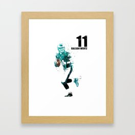 Carson Wentz #American football player Framed Art Print