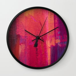 abstract silhouettes i the city Wall Clock