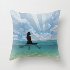View from a Surfboard Throw Pillow