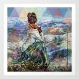 Sinew Moon Mountain Majesty Art Print