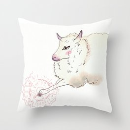 Wise Sheep Throw Pillow