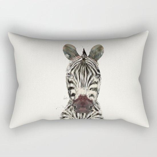 little zebra Rectangular Pillow