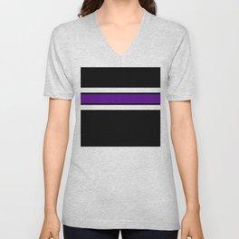 Team Colors...purple and white on black Unisex V-Neck