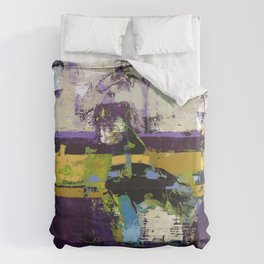 Controversy Prince Deep Purple Abstract Painting Modern Art Duvet Cover