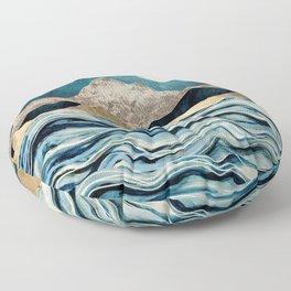Indigo Sea Floor Pillow