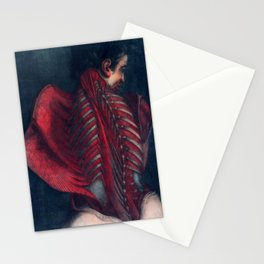 Anatomy art BACK RIB MUSCLE dark art, gothic home decor, gothic decor, gothic wall decor, medical Stationery Cards