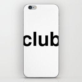 club iPhone Skin