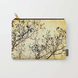 Black and Gold Tree Abstract Carry-All Pouch