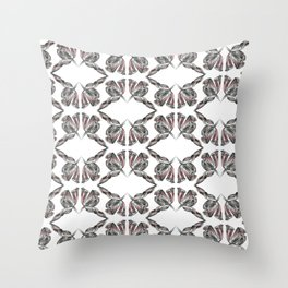 decadence flower pattern Throw Pillow