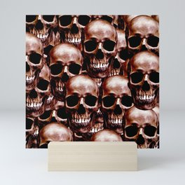 LG skull wall Mini Art Print