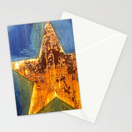Rust Star Stationery Cards