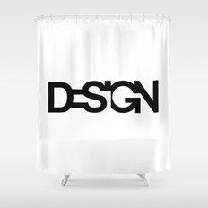 Typo Design Shower Curtain