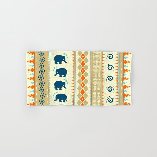 Ethnic Pattern Hand & Bath Towel