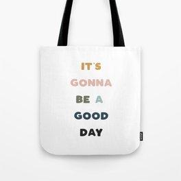Good Day - Retro Rainbow Tote Bag