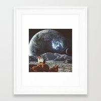 "alone Framed Art Prints featuring ""Alone"" by TRASH RIOT"