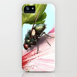 Fly on a flower 15 iPhone Case
