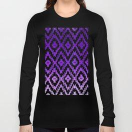 ombre purple ikat Long Sleeve T-shirt