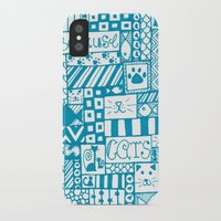 because cats iPhone & iPod Cases featuring Because Cats by Lizzy East