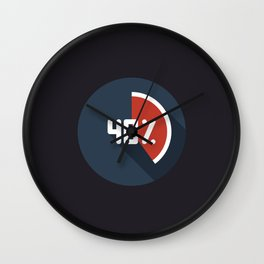 """Print illustration """"percentage - 40%"""" with long shadow in new modern flat design Wall Clock"""