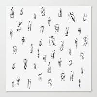teeth Canvas Prints featuring teeth by singingsaw